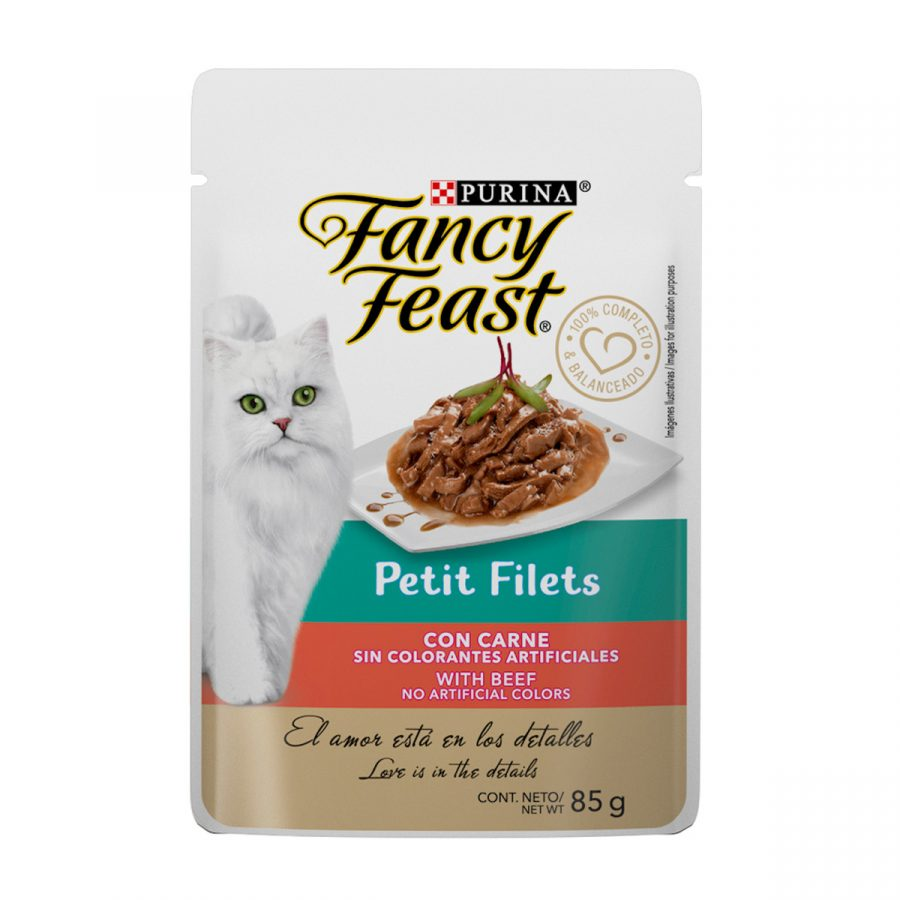 Fancy Feast Minifiletes con Carne Pouch